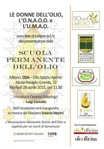 INVITO Scuola permanente dell'olio invito 28 aprile